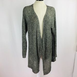 Eileen Fisher Gray Open Front Cardigan Sweater